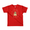 Pets In Tech Red / 2yrs 1s 0s Meditating Pug - Short sleeve kids t-shirt