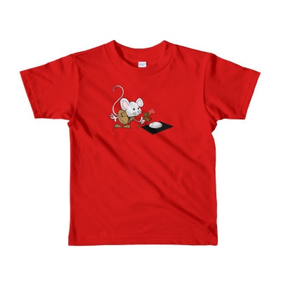 Pets In Tech Red / 2yrs Virtual Girlfriend Mouse - Short sleeve kids t-shirt
