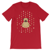 Pets In Tech Red / S 1s 0s Meditating Pug - Short-Sleeve Unisex T-Shirt
