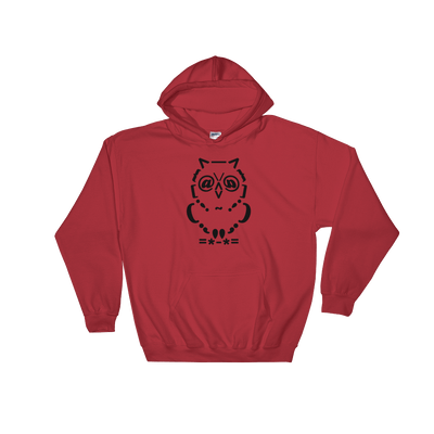 Pets In Tech Red / S Ascii Owl - Hoodie