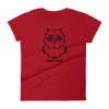 Pets In Tech Red / S Ascii Owl - Women's short sleeve t-shirt