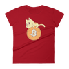 Pets In Tech Red / S Bitcoin Cat - Women's short sleeve t-shirt