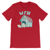Pets In Tech Red / S Work From Home Dog - Short-Sleeve Unisex T-Shirt