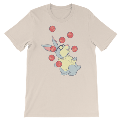 Pets In Tech Soft Cream / S Web Developer Rabbit - Short-Sleeve Unisex T-Shirt