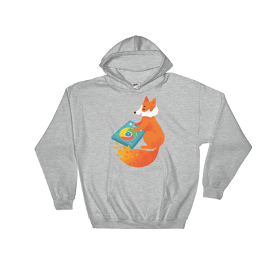 Pets In Tech Sport Grey / S Chrome DJ Firefox - Hoodie