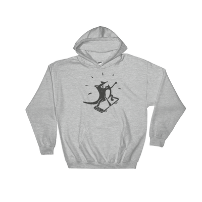 Pets In Tech Sport Grey / S iPhone Skater Cat - Hoodie