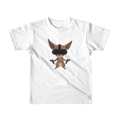 Pets In Tech White / 2yrs Virtual Reality Chihuahua - Short sleeve kids t-shirt