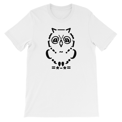 Pets In Tech White / S Ascii Owl - Short-Sleeve Unisex T-Shirt