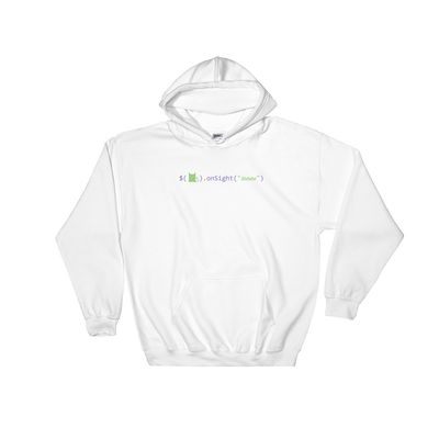 Pets In Tech White / S Awww on sight Cat - Hoodie