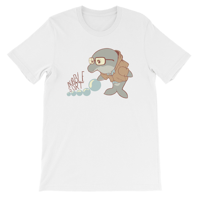 Pets In Tech White / S Bubble Sort Dolphin - Short-Sleeve Unisex T-Shirt