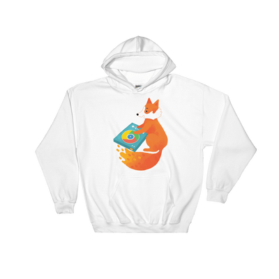 Pets In Tech White / S Chrome DJ Firefox - Hoodie