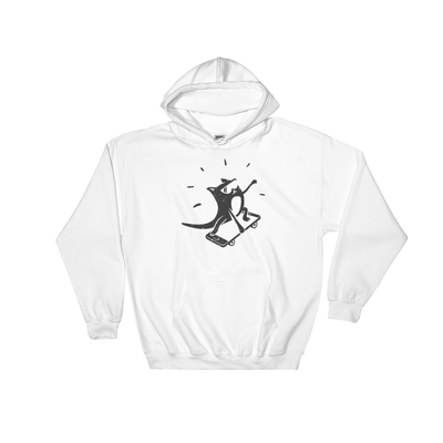 Pets In Tech White / S iPhone Skater Cat - Hoodie