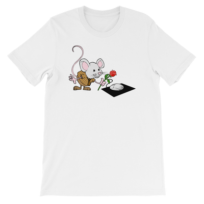 Pets In Tech White / S Virtual Girlfriend Mouse - Short-Sleeve Unisex T-Shirt