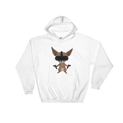 Pets In Tech White / S Virtual Reality Chihuahua - Hoodie