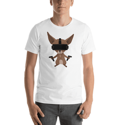Pets In Tech White / S Virtual Reality Chihuahua - Short-Sleeve Unisex T-Shirt
