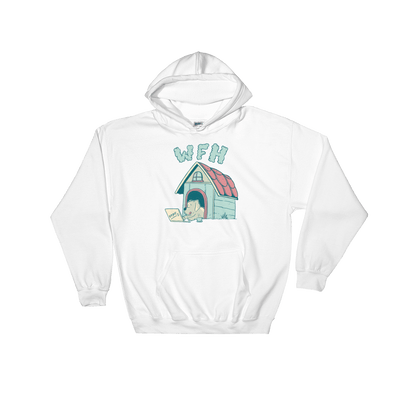 Pets In Tech White / S Work From Home Dog - Hoodie