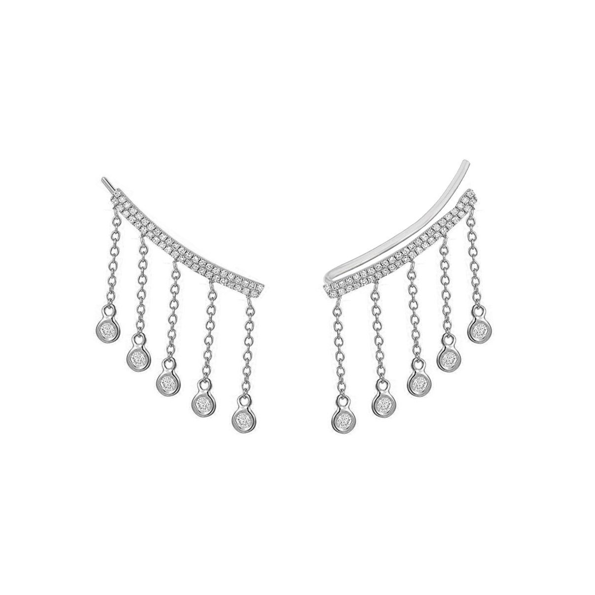 Earrings - Diamond Drop Climbing Earrings