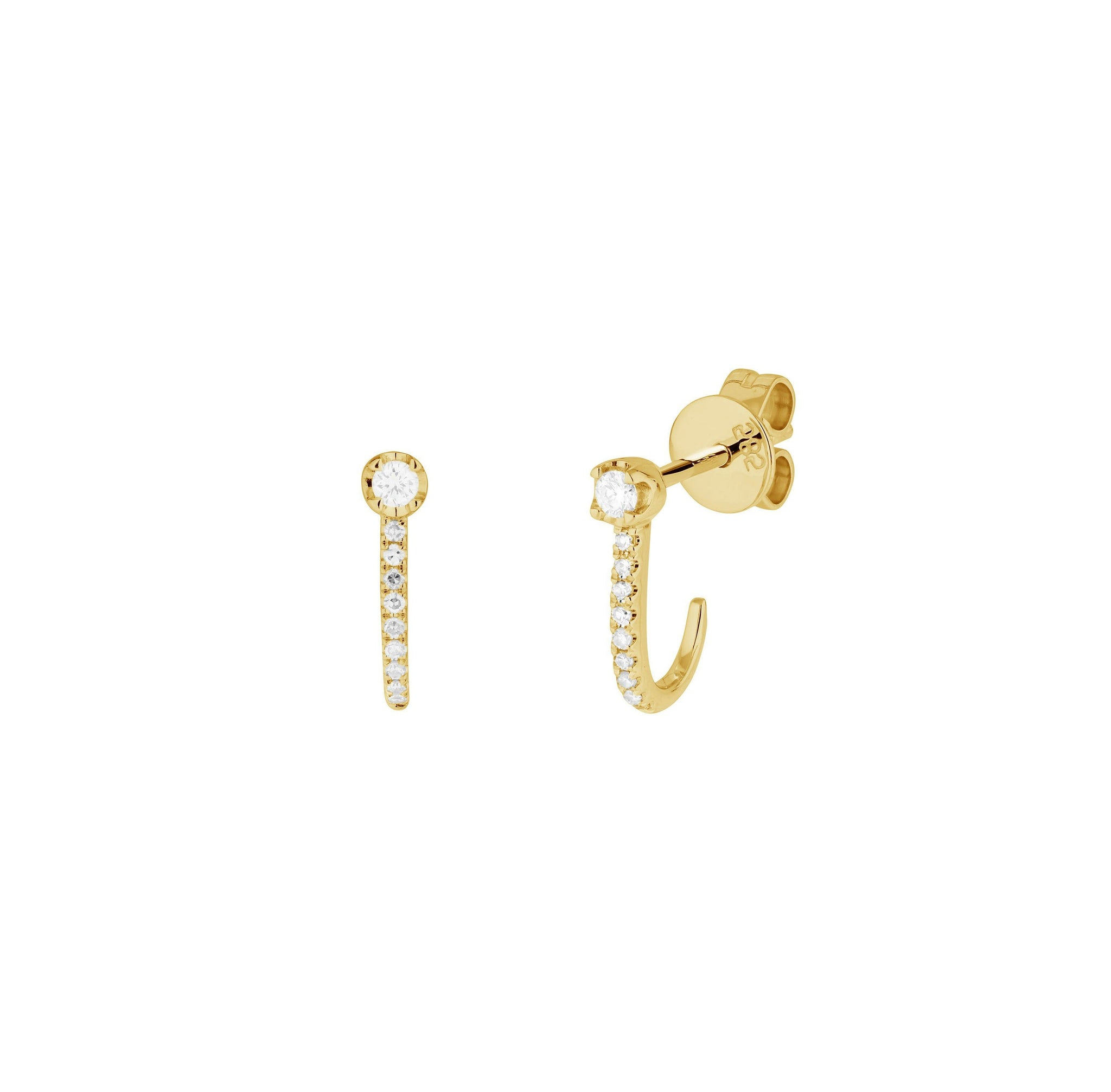 Earrings - Diamond Hook Earrings