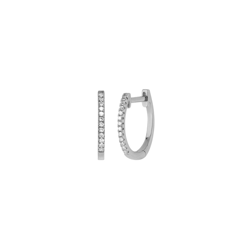 Earrings - Diamond Hoop Earrings