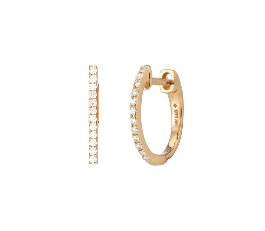 Earrings - Mini Diamond Hoop Earrings