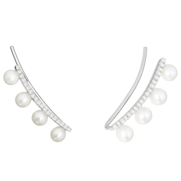 Earrings - Pearl And Diamond Earrings