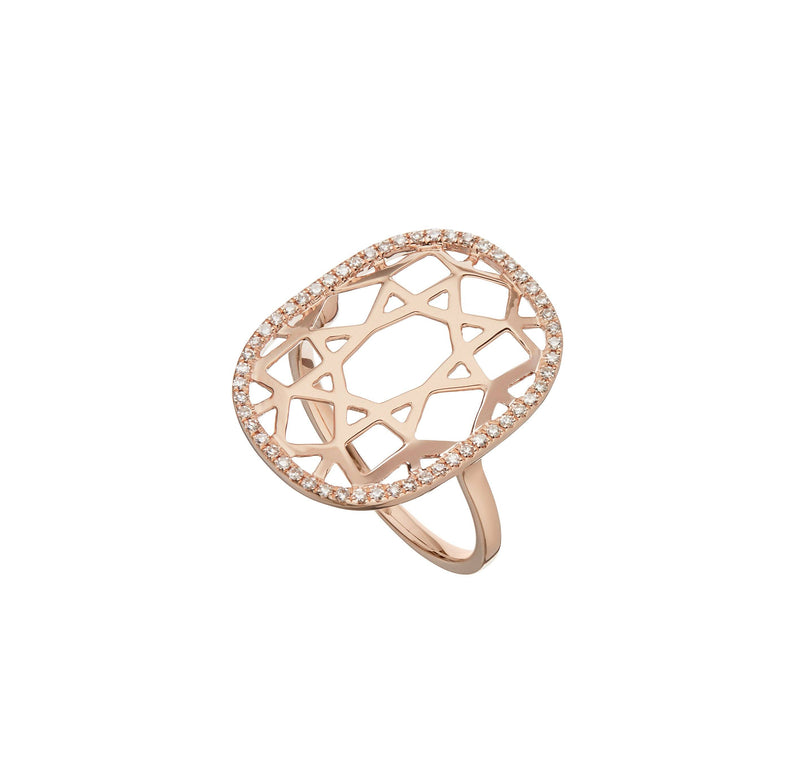 The Demi-Pave Logo Ring