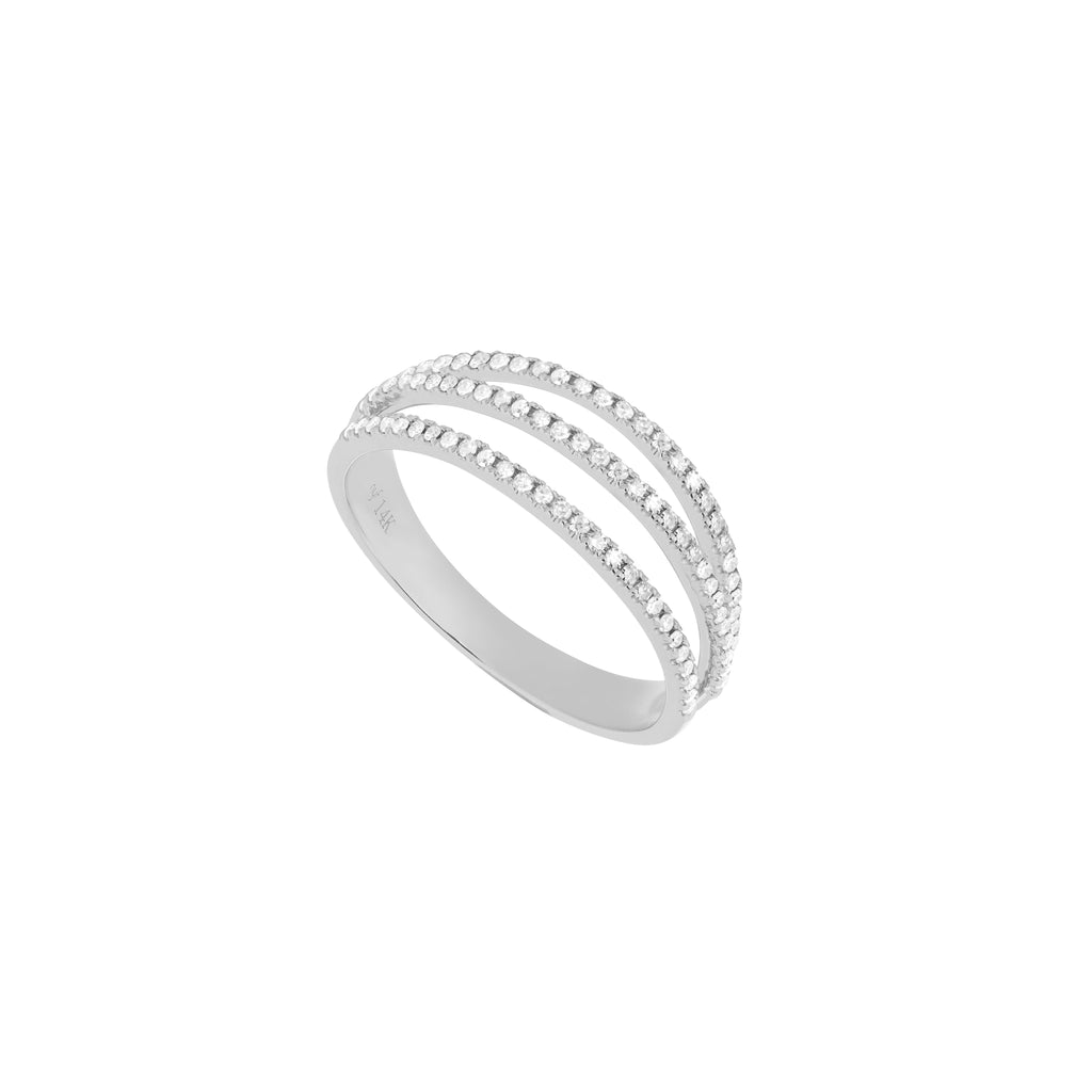 Triple Diamond Line Ring
