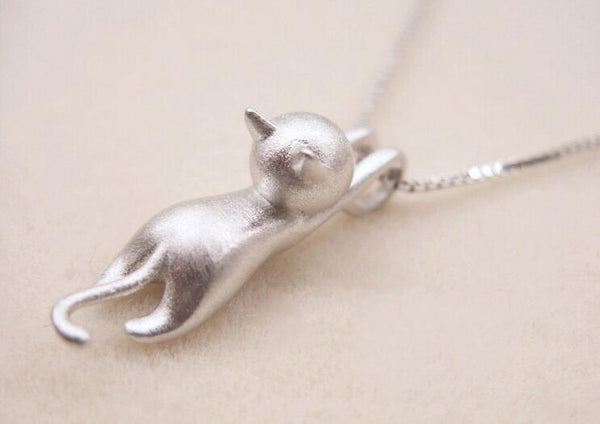 Tiny Cute Animal Kitty Cat Necklace