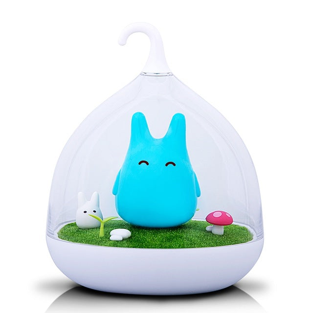 USB LED Table Lamp Baby Bedroom Totoro Nightlight Vibration Touch Sensor
