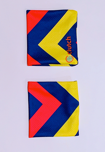Clutch Towels Wristbands Navy/Yellow/Pink (Set of 2, Size M)