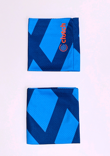 Clutch Towels Wristbands Navy/Blue (Set of 2, Size M)