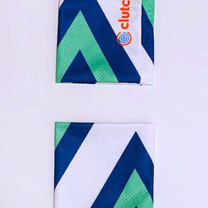 Clutch Towels Wristbands Navy/Green/White (Set of 2, Size M)