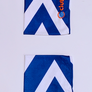 Clutch Towels Wristbands Navy/White (Set of 2, Size M)