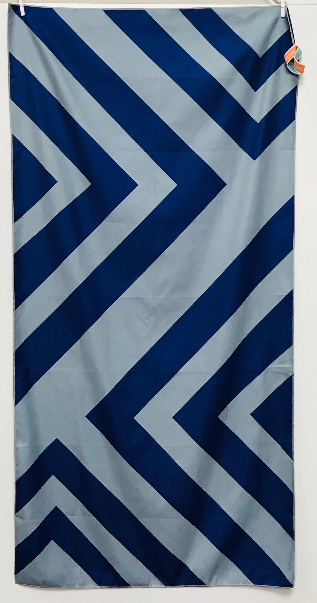 Beach Towel, Zig Zag Navy/Gray