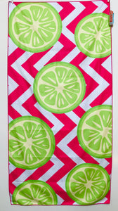 Beach Towel, Citrus, Lime Punch
