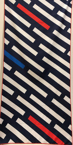 Beach Towel, Mod Patterns, Dashing Navy