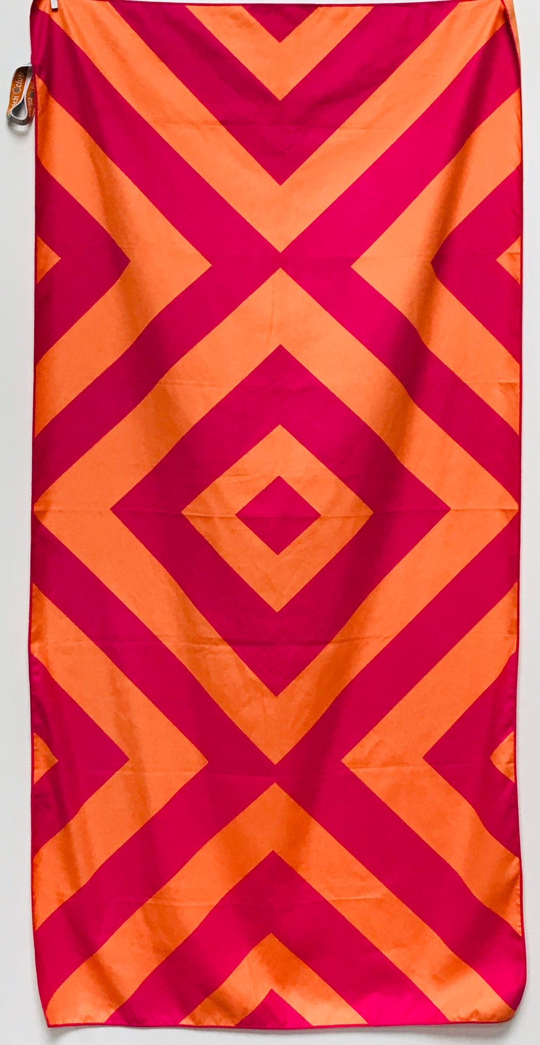 Beach Towel, Diamond Pink/Orange