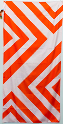 Beach Towel, Zig Zag Orange/White