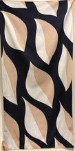 Beach Towel, Mod Patterns, Leaves Navy