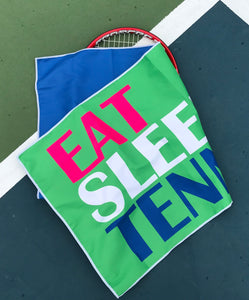 Tennis Towel, Eat Sleep Tennis