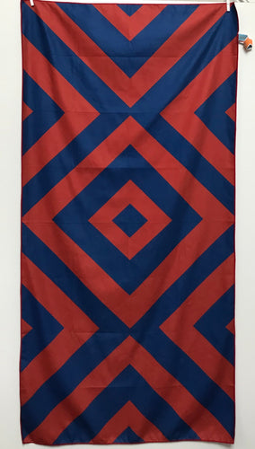 Beach Towel, Diamond Red/Navy