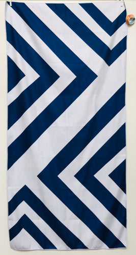 Beach Towel, Zig Zag Navy/White