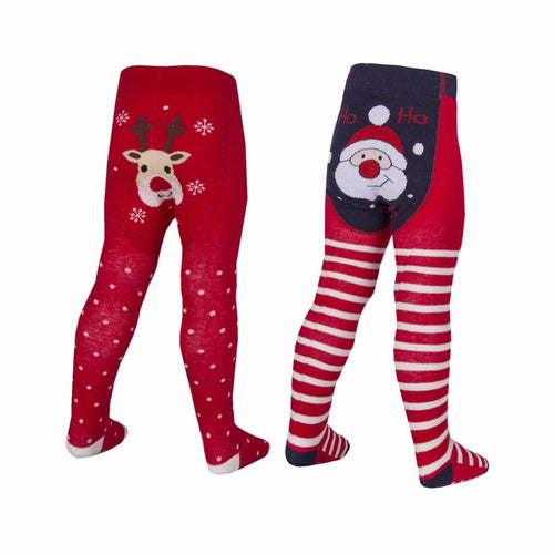 SANTA - Baby girl Christmas tights