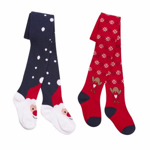 SANTA - Girls Christmas Tights