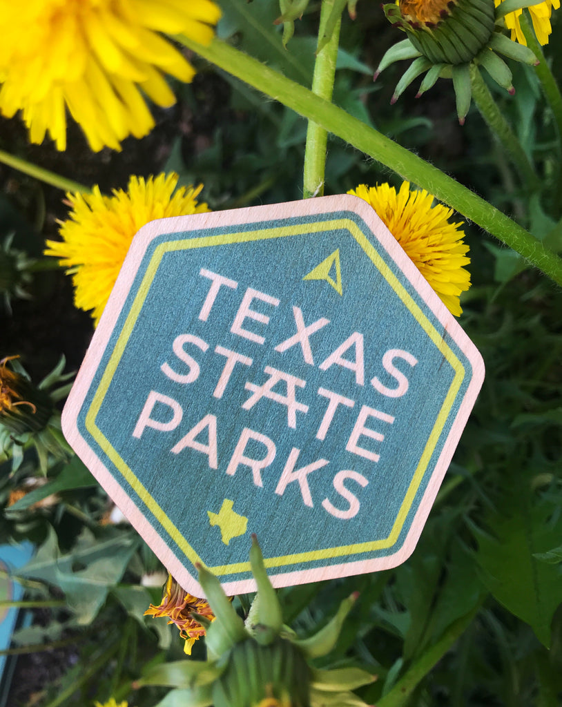 Texas State Parks Wood Stickers
