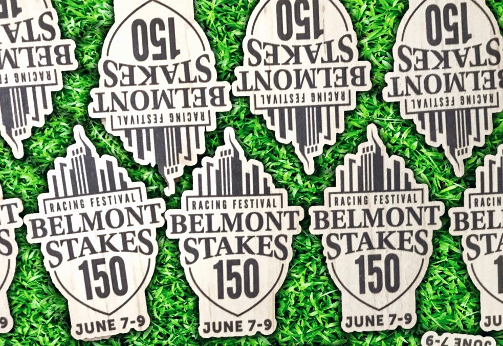 Our Wood Stickers are off to the races at the Belmont Stakes!