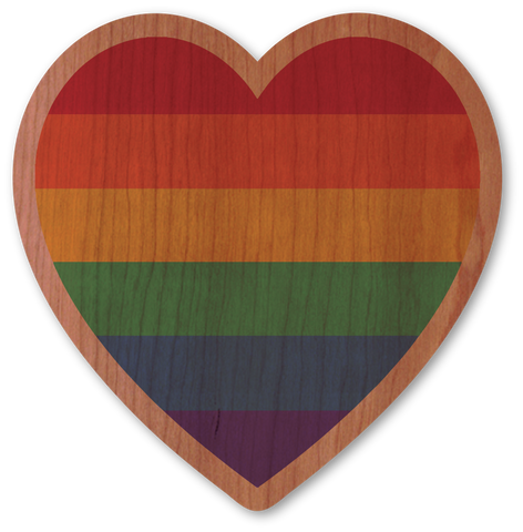 Pride Rainbow Heart