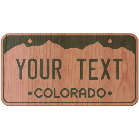 Customizable CO License Plate