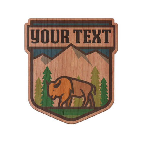 Customizable Buffalo Mountain Badge