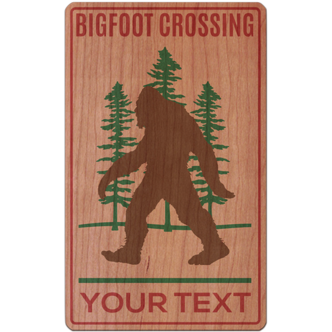 Customizable Bigfoot Crossing Sign
